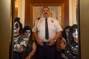 Paul Blart (Kevin James) and Mini Kiss in Columbia Pictures' PAUL BLART: MALL COP 2.
