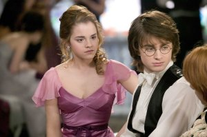 EMMA WATSON as Hermione Granger and DANIEL RADCLIFFE as Harry Potter in Warner Bros. Pictures' fantasy